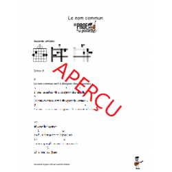 Le nom commun! - Accords de guitare