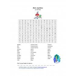 Mots mystères - Rentrée scolaire (primaire)