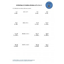 Nombres décimaux #3 (5e année)