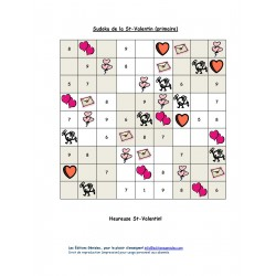 Sudoku Saint-Valentin (primaire)