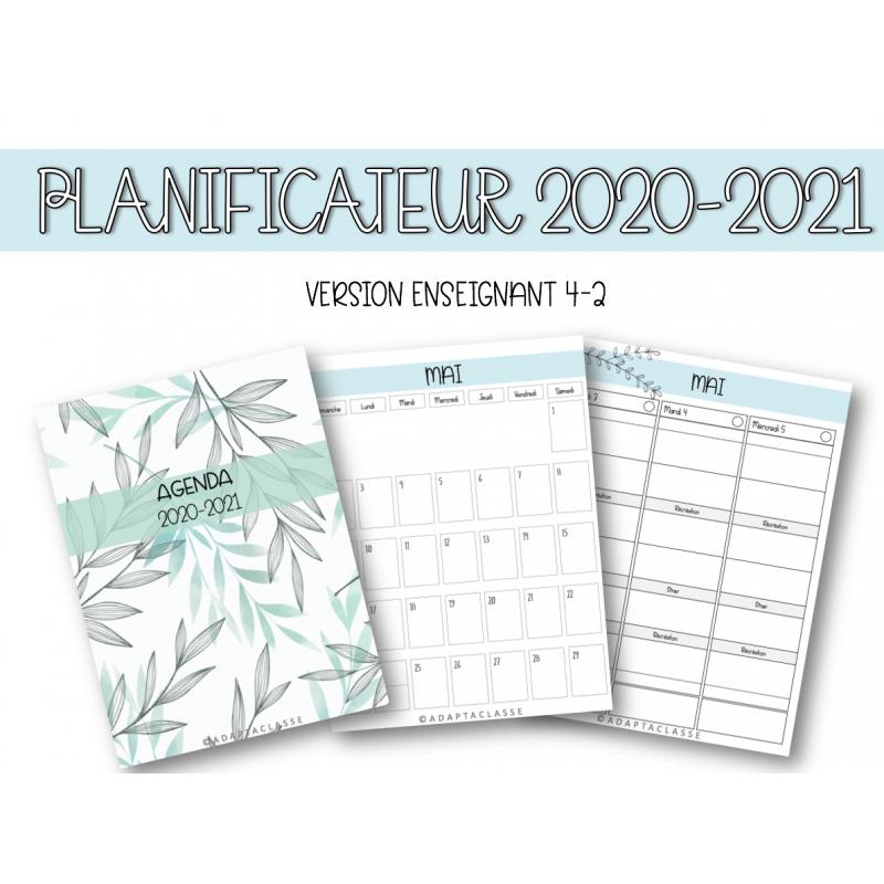 Planificateur 2020 2021 (VERSION ENSEIGNANT 4 2)