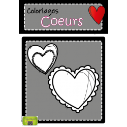 coloriage Saint-Valentin coeurs