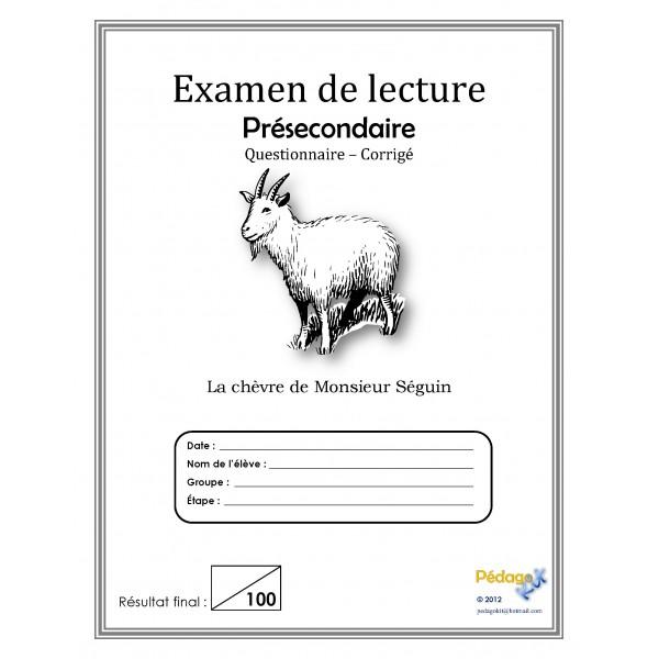 Français éval. lecture présecondaire, chèvre