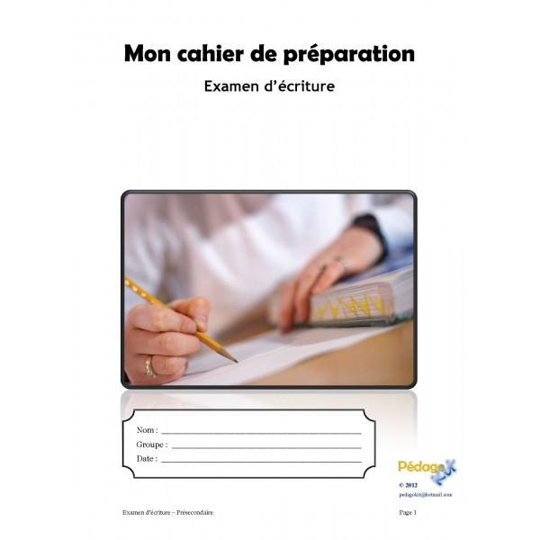Français Evaluation écriture présecondaire
