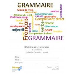 Français: éval. formative grammaire sec3