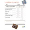 Arts S1 Mosaique en carton
