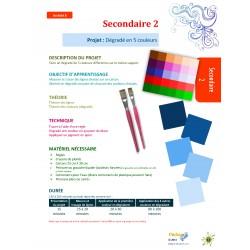 Arts Sec 2 Dégradé 5 couleurs