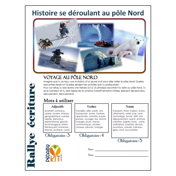 Écriture Rallye pôle Nord (narratif)