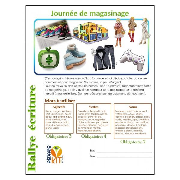 Écriture Rallye magasinage (narratif)