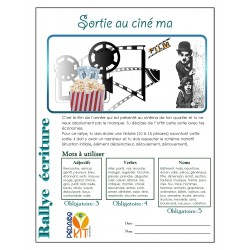 Écriture Rallye cinéma (narratif)