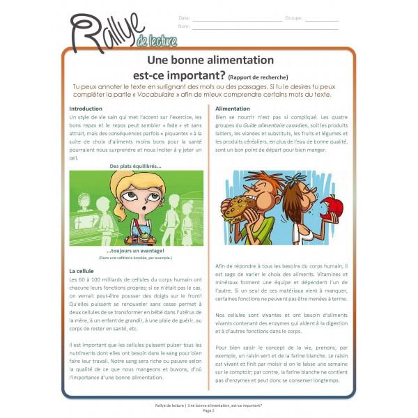 Lecture Rallye Alimentation