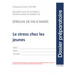 Écriture évaluation sec 3,Stress chez les jeunes