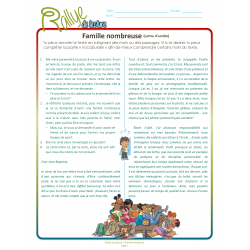 Lecture Rallye famille nombreuse