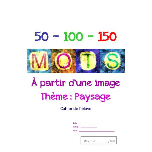 Français texte à partir d'une image-Paysage