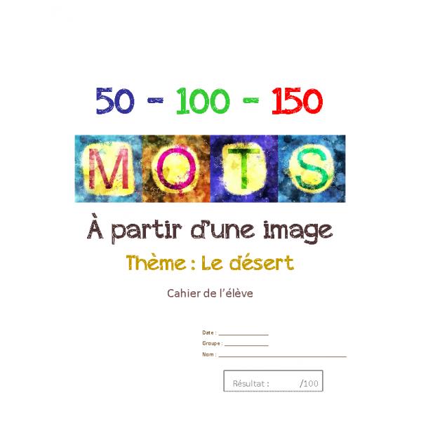 Français texte à partir d'une image-Désert