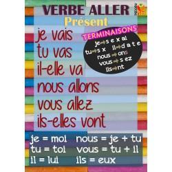 Français ensemble 20 posters conjugaison
