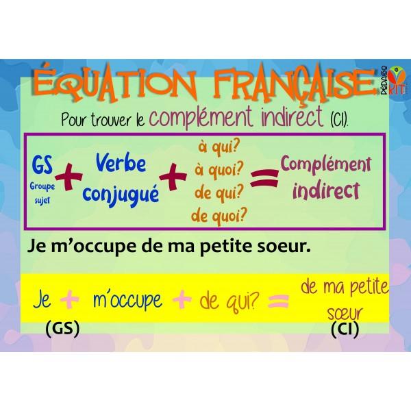 Français, équation française complément indirect