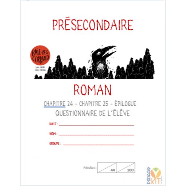 Français, roman Baie-des-Corbeaux