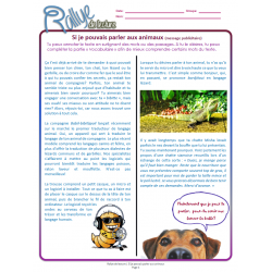 Lecture Rallye parler aux animaux