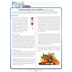 Lecture Rallye Alimentation athlète