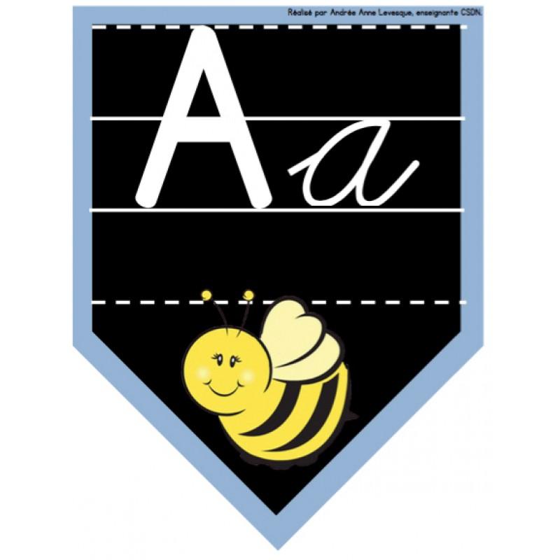 affiches de l u0026 39 alphabet  cursive