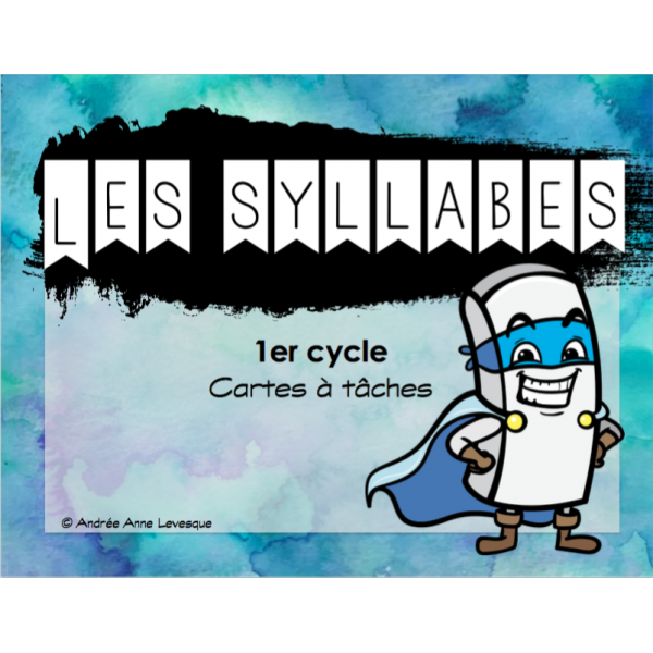 Les syllabes (Cartes à tâches)