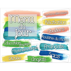 Menu du jour simple et coloré