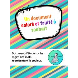 Règles d'accord des mots représentant la couleur