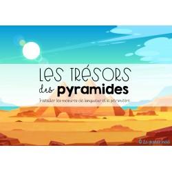 LES TRÉSORS DES PYRAMIDES-Les longueurs+périmètre