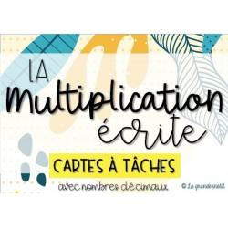 CARTES À TÂCHES - La multiplication écrite