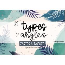 CARTES À TÂCHES - Les types d'angles - niv 1-2
