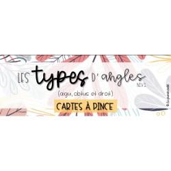 CARTES À PINCE - Les types d'angles (niv 1 et 2)