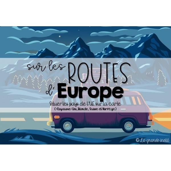 SUR LES ROUTES D'EUROPE - Situer les pays