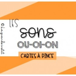 CARTES À PINCE - Les sons OU-OI-ON