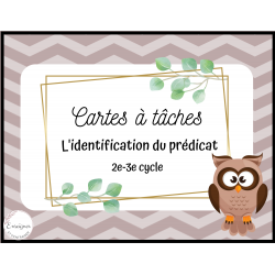 Cartes à tâches - Prédicat - 2e-3e cycle