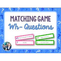 Wh- Questions Matching Game (8 sets, 192 cards)