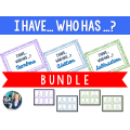 Bundle: 3 sets of I Have, Who Has ? Game
