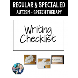 Regular/Special Ed - Writing Checklist (editable)