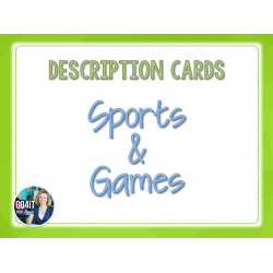 Description Cards: Sports and Games (59 cards)