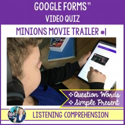 Google Forms™ Video Quiz - Minions Trailer 1