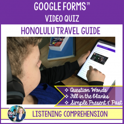 Google Forms™ Video Quiz - Honolulu