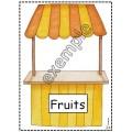 Le kiosque des fruits et légumes