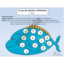 Le jeu des poissons multicolores