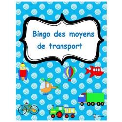 Bingo des moyens de transports