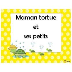 Maman tortue et ses petits