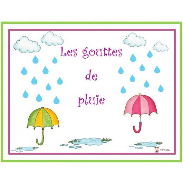Les gouttes de pluie