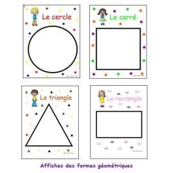 Affiches des formes géométriques