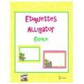 Étiquettes Alligator École