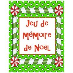 Jeu de mémoire de Noël