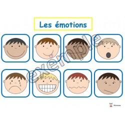 Jeu pour tout-petits: les émotions